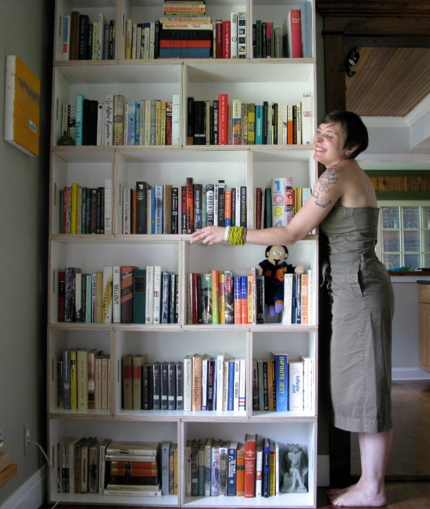 Hugging Bookshelves