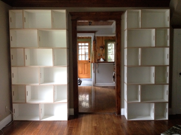 ...to actual, honest-to-goodness bookshelves.