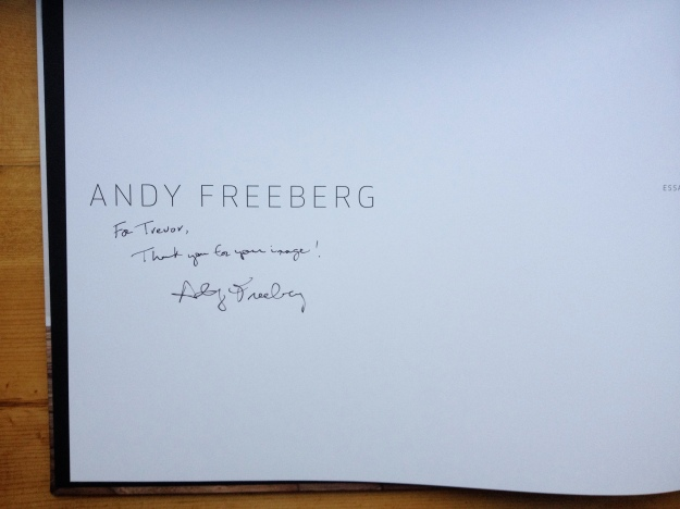 Andy Freeberg.Inscription