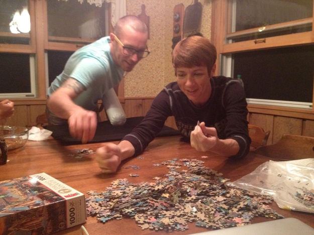 Trevor and Rae Start a Puzzle