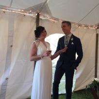 The gorgeous newlyweds