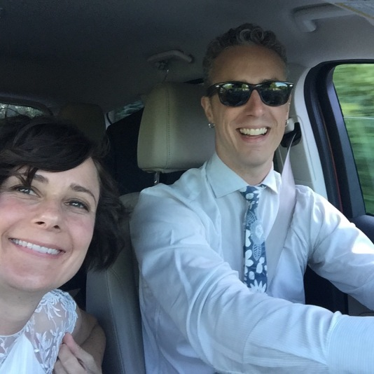 The first newlywed selfie! (Photo Courtesy of Juli Lowe, Mainely Adventures!)
