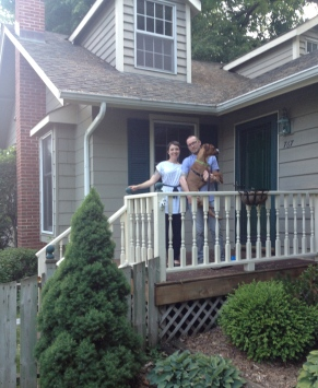 Our first picture in front of our first house!