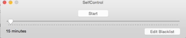 Self Control sliding timer
