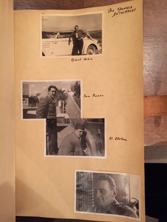Self-portraits from Grandpa's war-time scrapbook
