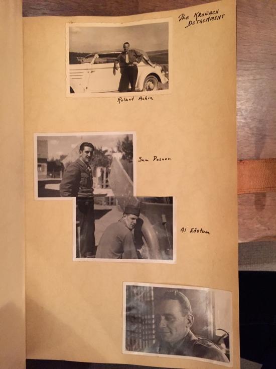 Self-portraits from Grandpa's war-time scrapbook