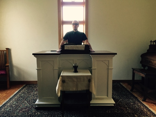 Trevor takes the pulpit