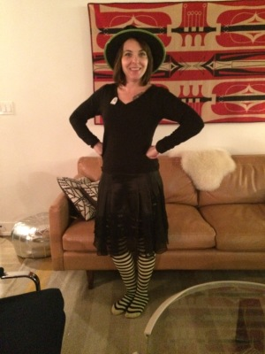 "And I got to wear my ""costume"" to bookclub that evening, so it was a double bonus!"