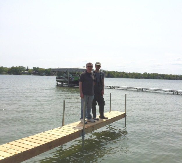 These men built and installed this dock.