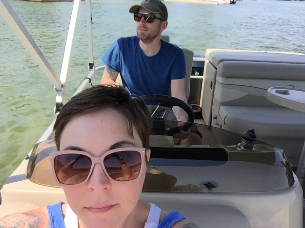 L and T on Boat