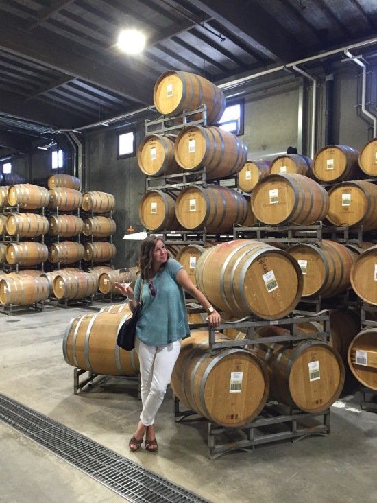Lisa contemplates stealing a barrel of wine