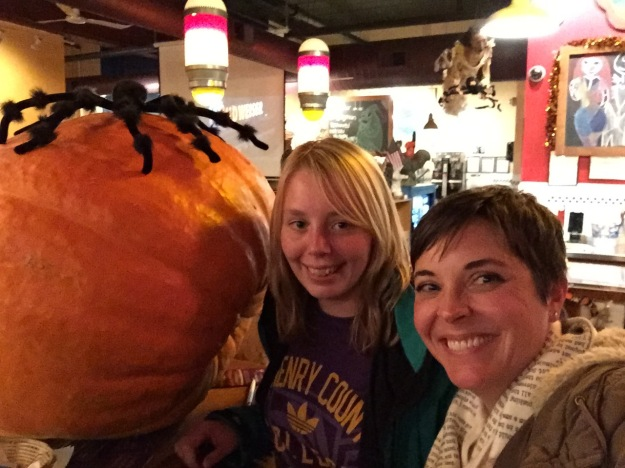 We guessed the weight of this pumpkin for a chance to win a Wishbone dinner. I have a good feeling about our chances...