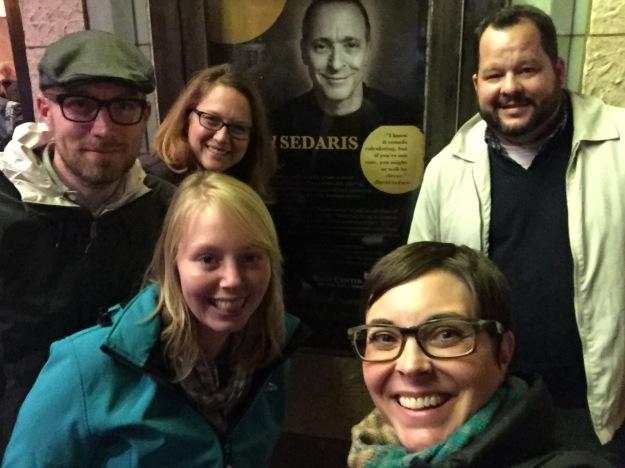 Trevor, Lisa, James, Noëmi, and I, after the show