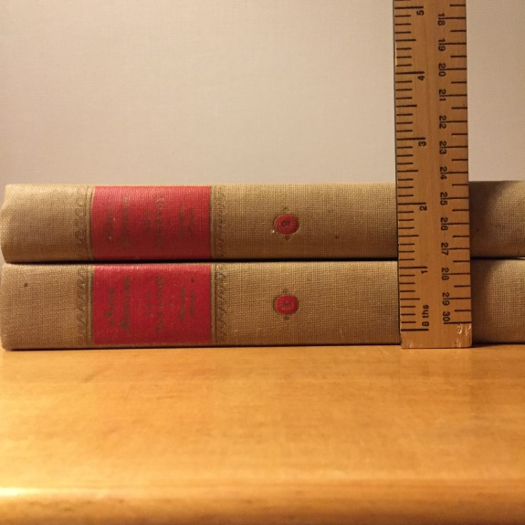 Anna Karenina was so big and fat that sometimes it's broken up into two books!
