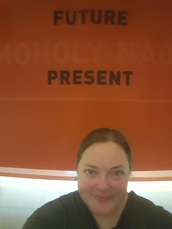 Sarah at the museum